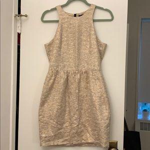 Zara Gold Tweed Prom Dress